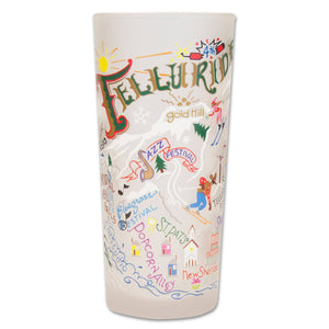 Ski Telluride Drinking Glass - catstudio