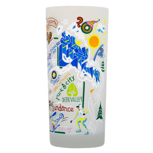 Ski Utah Drinking Glass - catstudio