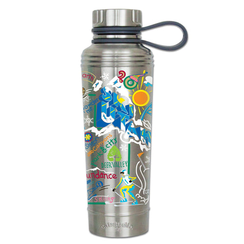 Ski Utah Thermal Bottle Thermal Bottle catstudio
