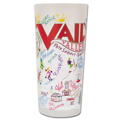Ski Vail Drinking Glass - catstudio