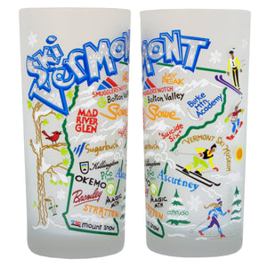 Ski Vermont Drinking Glass - catstudio