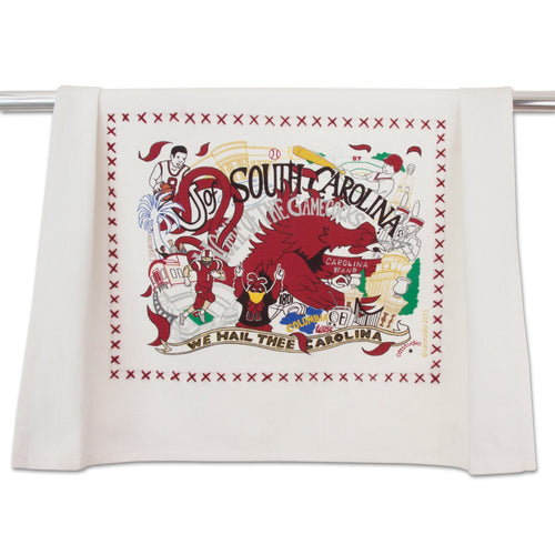 South Carolina, University of Collegiate Dish Towel - catstudio