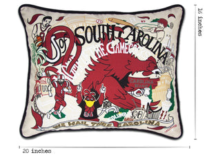 South Carolina, University of Collegiate Embroidered Pillow - catstudio