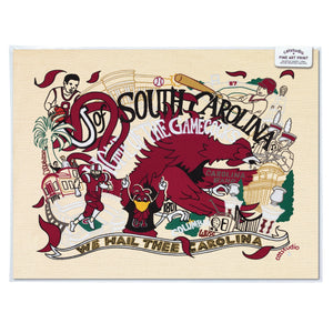 South Carolina, University of Collegiate Fine Art Print - catstudio