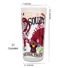 Load image into Gallery viewer, South Carolina, University of Collegiate Drinking Glass - catstudio