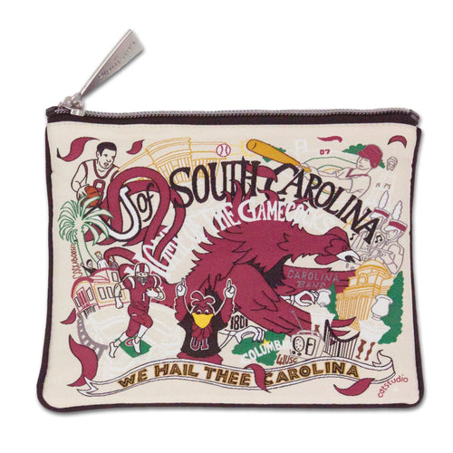 South Carolina, University of Collegiate Zip Pouch - catstudio