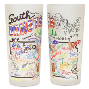 South Dakota Drinking Glass - catstudio