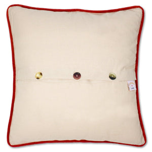 South Pole Hand-Embroidered Pillow - Black Pillow catstudio