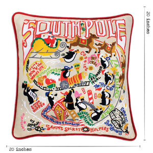 South Pole Hand-Embroidered Pillow Pillow catstudio