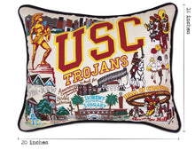 Load image into Gallery viewer, Southern California, University of (USC) Collegiate Embroidered Pillow - catstudio