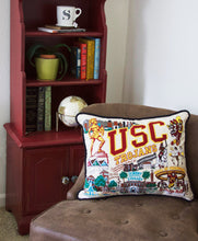 Load image into Gallery viewer, Southern California, University of (USC) Collegiate Embroidered Pillow Pillow catstudio
