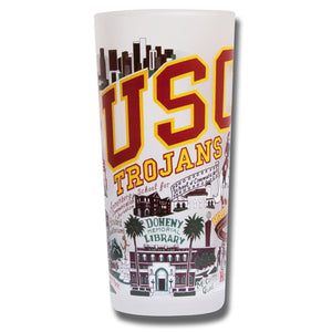 Southern California, University of (USC) Collegiate Drinking Glass - catstudio