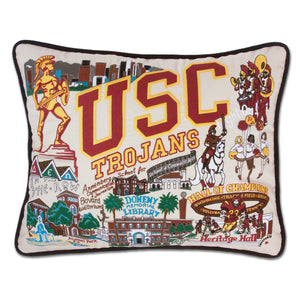 Southern California, University of (USC) Collegiate XL Hand-Embroidered Pillow - catstudio