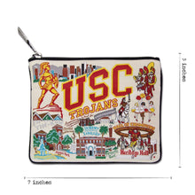 Load image into Gallery viewer, Southern California, University of (USC) Collegiate Zip Pouch Pouch catstudio