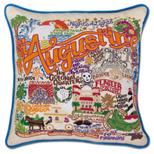 Load image into Gallery viewer, St. Augustine Hand-Embroidered Pillow - catstudio