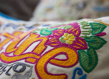 Load image into Gallery viewer, St. Augustine XL Hand-Embroidered Pillow - catstudio