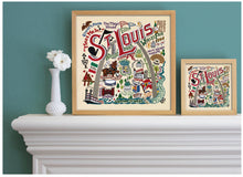 "Load image into Gallery viewer, St. Louis Fine Art Print Art Print catstudio 16""x16"" - Framed"