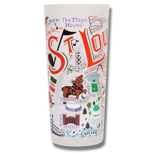 Load image into Gallery viewer, St. Louis Drinking Glass - catstudio