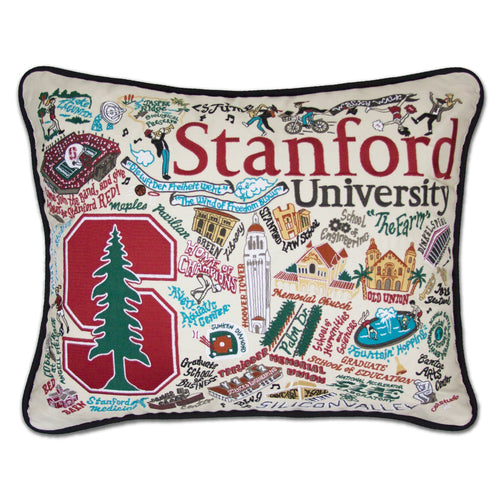 Stanford University Collegiate Embroidered Pillow - catstudio