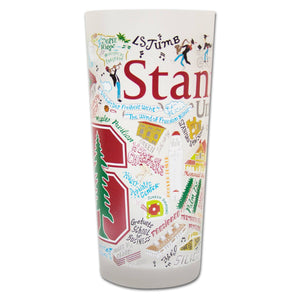 Stanford University Collegiate Drinking Glass - catstudio