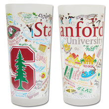 Load image into Gallery viewer, Stanford University Collegiate Drinking Glass - catstudio