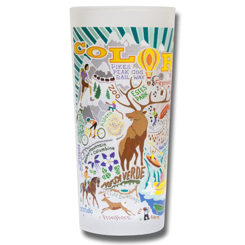 Summer Colorado Drinking Glass - catstudio
