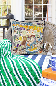 Summer Colorado Hand-Embroidered Pillow - catstudio