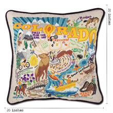 Load image into Gallery viewer, Summer Colorado Hand-Embroidered Pillow Pillow catstudio