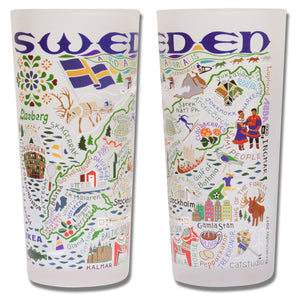 Sweden Drinking Glass - catstudio