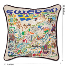 Load image into Gallery viewer, Sweden Hand-Embroidered Pillow - catstudio