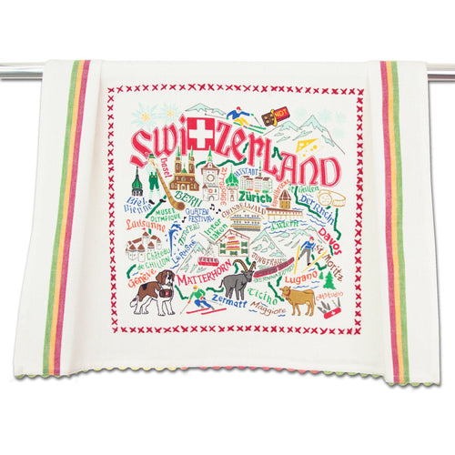 Switzerland Dish Towel Dish Towel catstudio