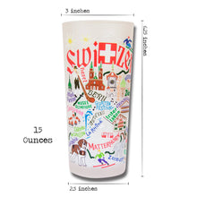 Load image into Gallery viewer, Switzerland Drinking Glass - catstudio
