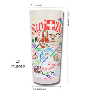 Switzerland Drinking Glass - catstudio