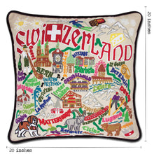 Load image into Gallery viewer, Switzerland Hand-Embroidered Pillow - catstudio
