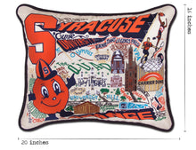 Load image into Gallery viewer, Syracuse University Collegiate Embroidered Pillow - catstudio