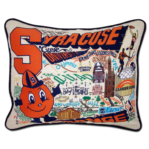 Syracuse University Collegiate Embroidered Pillow - catstudio