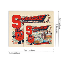 Load image into Gallery viewer, Syracuse University Collegiate Fine Art Print - catstudio
