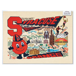 Syracuse University Collegiate Fine Art Print - catstudio