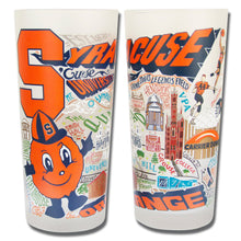 Load image into Gallery viewer, Syracuse University Collegiate Drinking Glass - catstudio