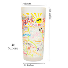 Load image into Gallery viewer, Tampa-St. Pete Drinking Glass - catstudio