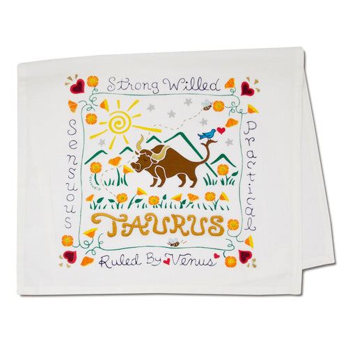 Taurus Astrology Dish Towel Dish Towel catstudio