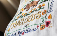 Load image into Gallery viewer, Taurus Astrology Hand-Embroidered Pillow - catstudio