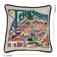 Load image into Gallery viewer, Tennessee Hand-Embroidered Pillow - catstudio