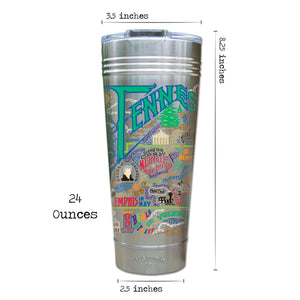 Tennessee Thermal Tumbler (Set of 4) - PREORDER Thermal Tumbler catstudio