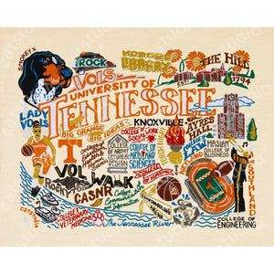 Tennessee, University of Collegiate Fine Art Print - catstudio