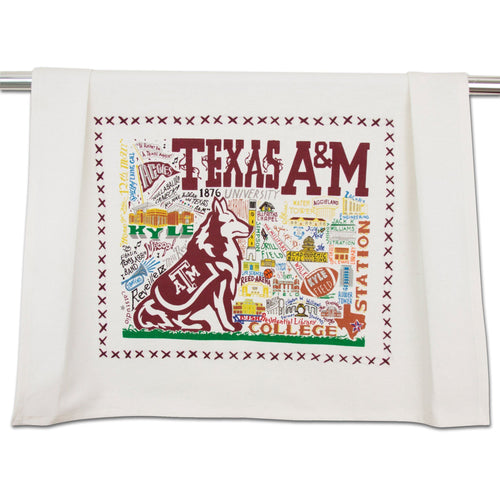 Texas A&M University Collegiate Dish Towel - catstudio