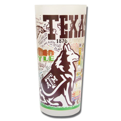 Texas A&M University Collegiate Drinking Glass - catstudio