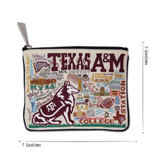 Load image into Gallery viewer, Texas A&M University Collegiate Zip Pouch Pouch catstudio