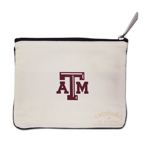 Texas A&M University Collegiate Zip Pouch Pouch catstudio