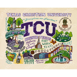 Texas Christian University (TCU) Collegiate Fine Art Print - catstudio